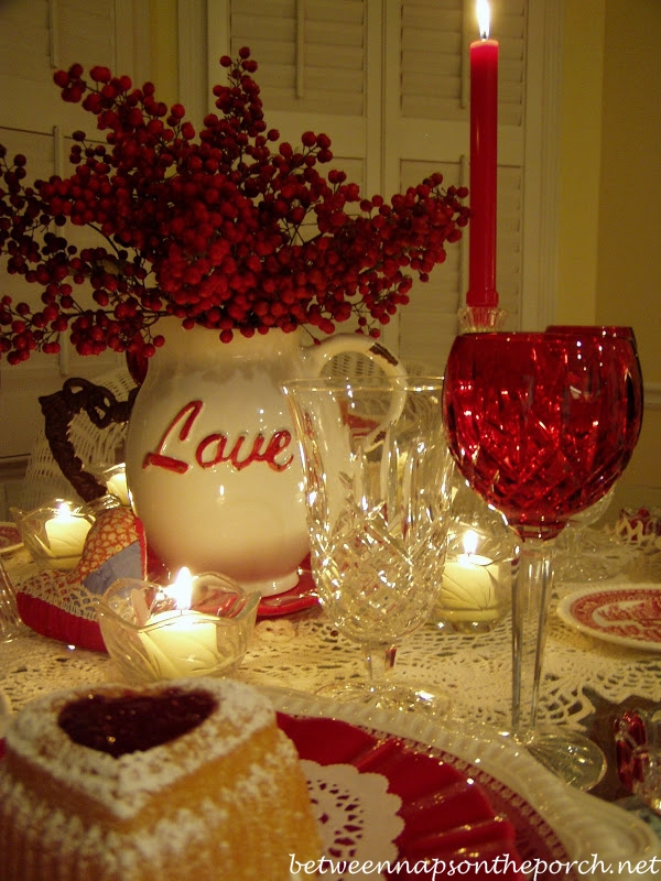 Valentine's Day Tablescape with Heart Cakes_wm