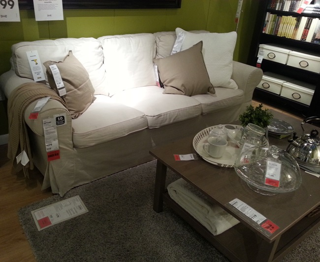 White Ikea Sofa