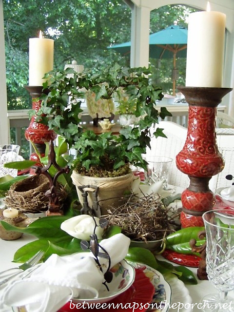 Bird Themed Table Setting