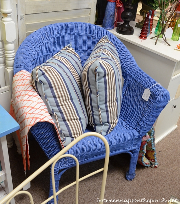 Blue Wicker Chair