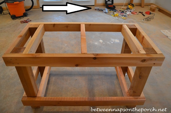 Building-a-Potting-Table-or-Buffet-Server-for-Parties