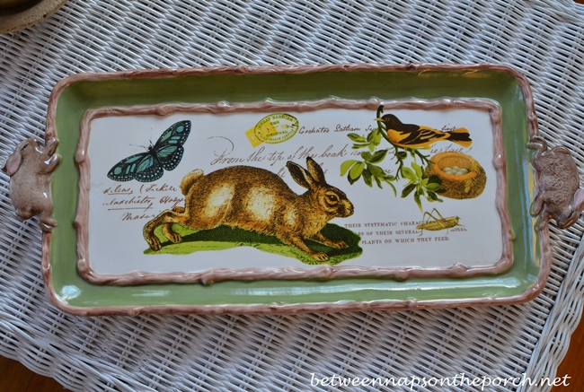 Bunny Tray for Screened Porch
