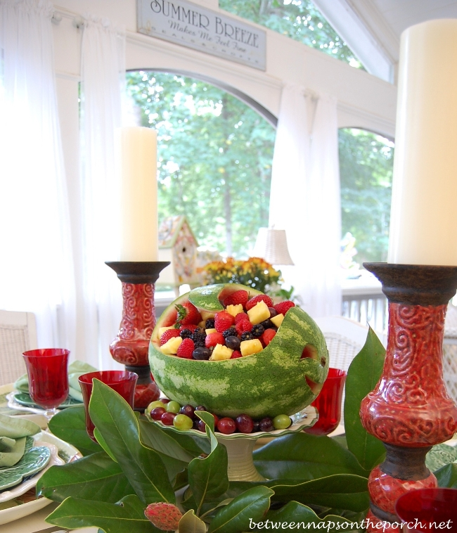 Carved Watermelon Table or Party Centerpiece