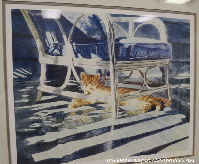 Cat on Porch Art