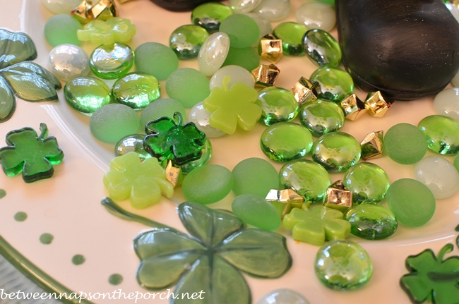 Centerpiece for a St. Patrick's Day Table Setting