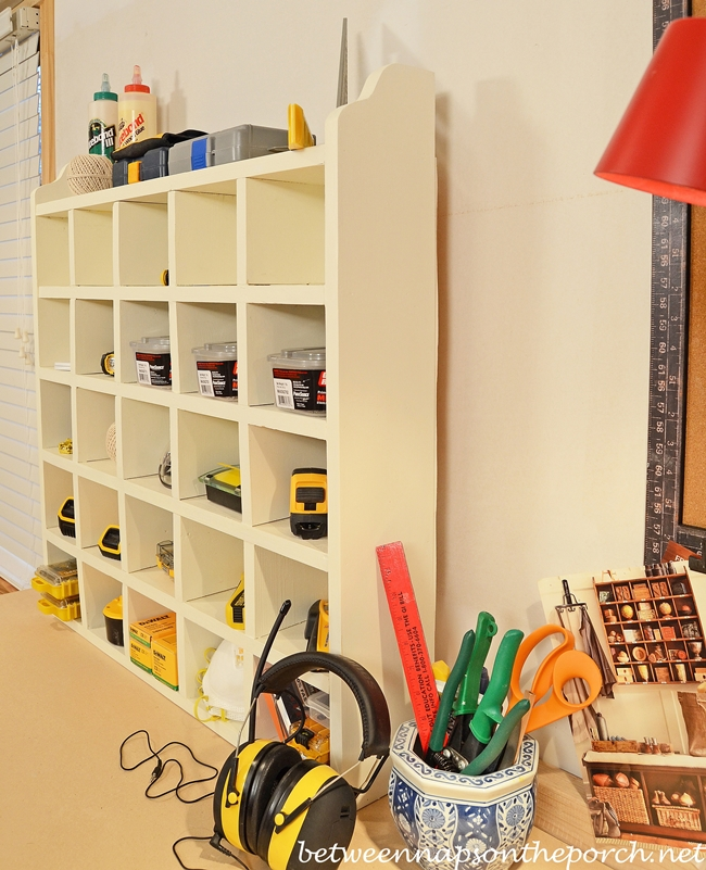 Make a DIY Cubby Organizer, Pottery Barn Knock-off