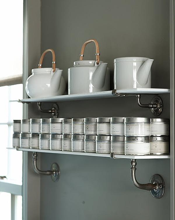 Martha Stewart's Kitchen, Spice Storage at Cantitoe Corners in Bedford