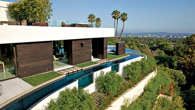 Moat around a House in Los Angeles