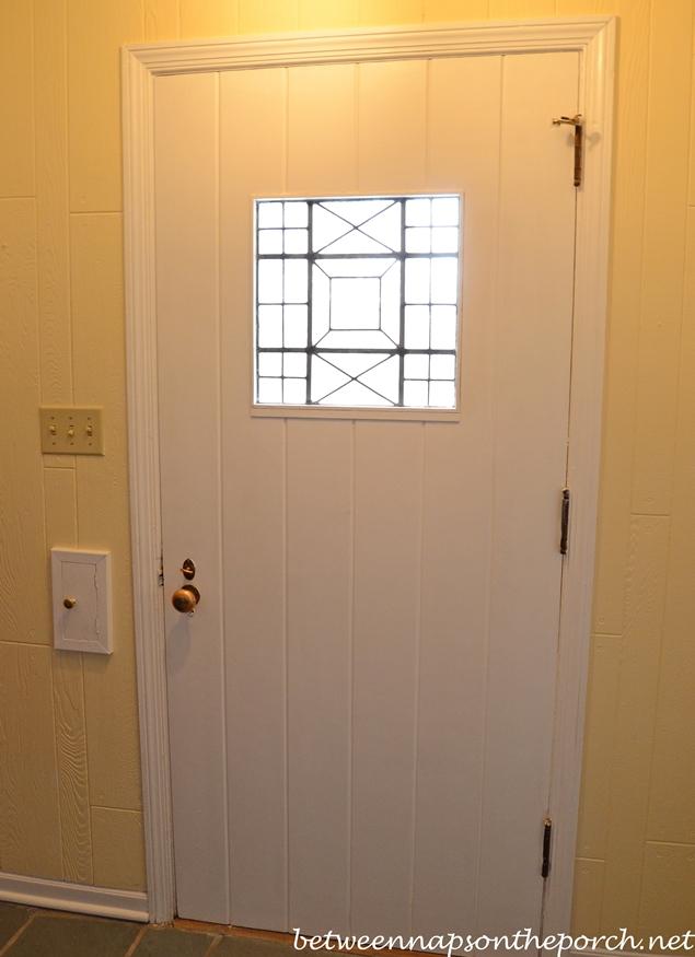 Old Front Door with Window