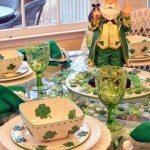 St. Patrick's Day Table Setting With Leprechaun Centerpiece