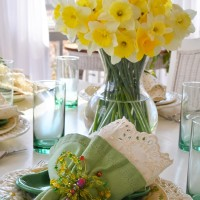 St. Patrick's Day Spring Table Setting