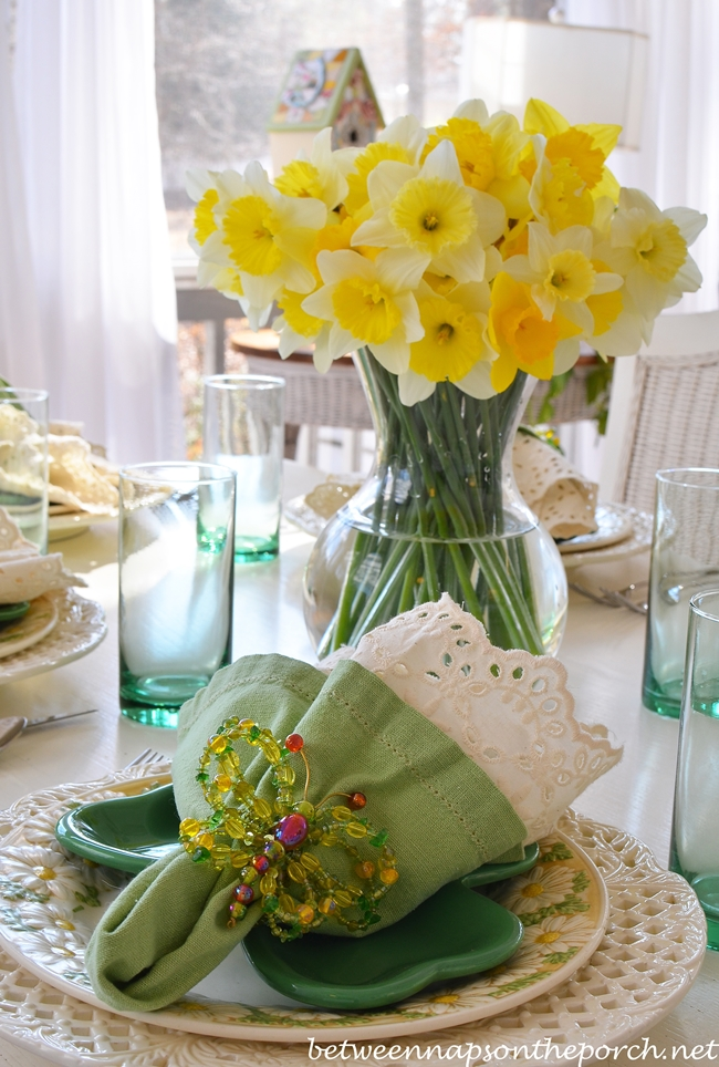 St Patrick S Day Spring Table Setting Tablescape