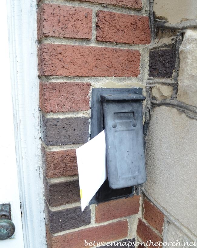 Vintage Antique Mail Slot