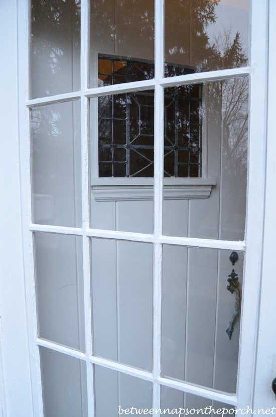 Vintage French Door with Removable Screen