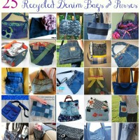 25 Denim Bags & Purses Made From Recycled Jeans