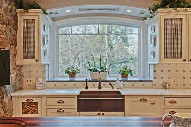 Beautiful Kitchen with Paneled Refrigerator