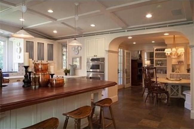 Beautiful Kitchen with Paneled Refrigerator
