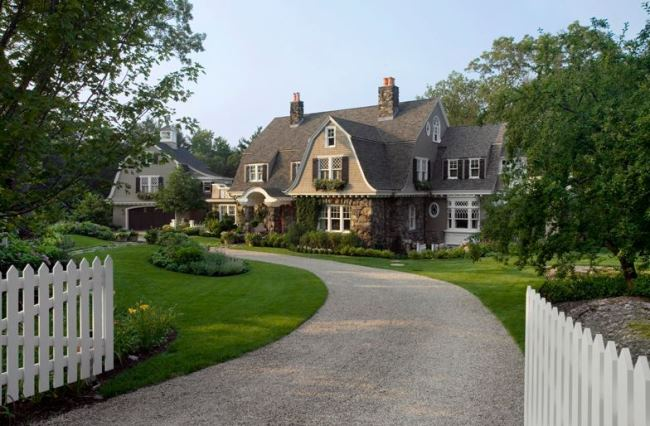 Gambrel Design Home with Beautiful Gardens and Landscaping 1