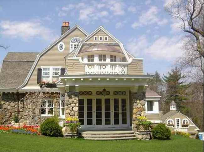 Gambrel Design Home with Beautiful Gardens and Landscaping 2