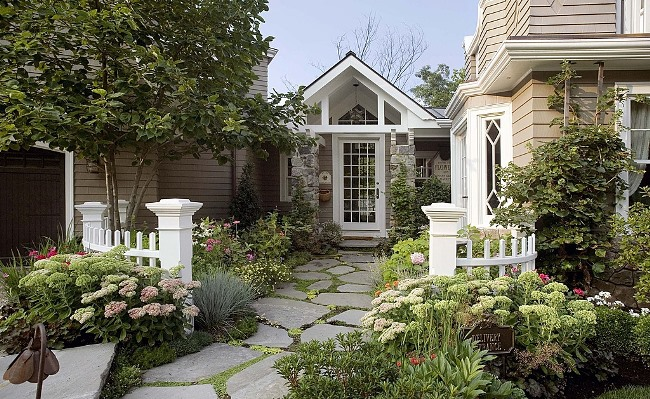 Gambrel Design Home with Beautiful Gardens and Landscaping 3