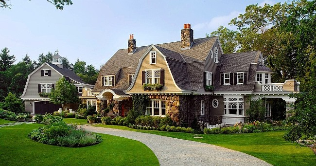Gambrel Design Home with Beautiful Gardens and Landscaping 4