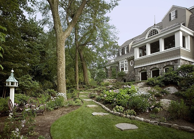 Gambrel Design Home with Beautiful Gardens and Landscaping 7