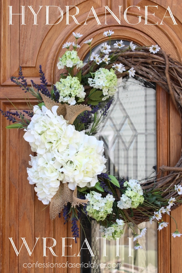 make a spring hydrangea wreath for your front door