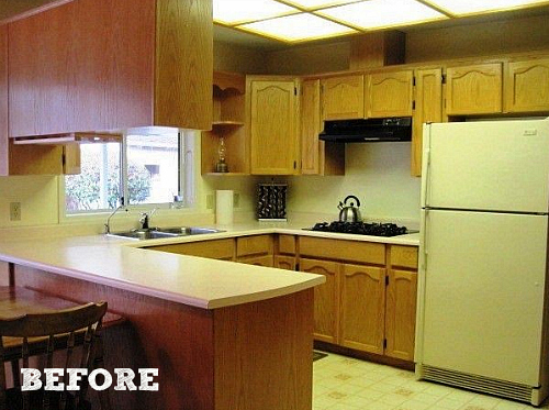 Outdated Kitchen Before Makeover