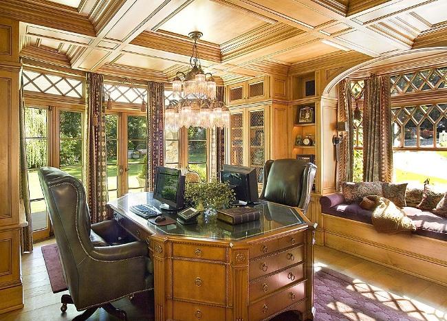 Paneled Study with Window Seat 3