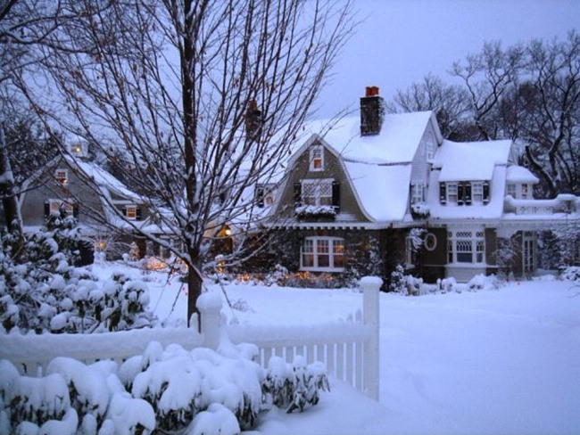 Storybook Cottage in the Snow