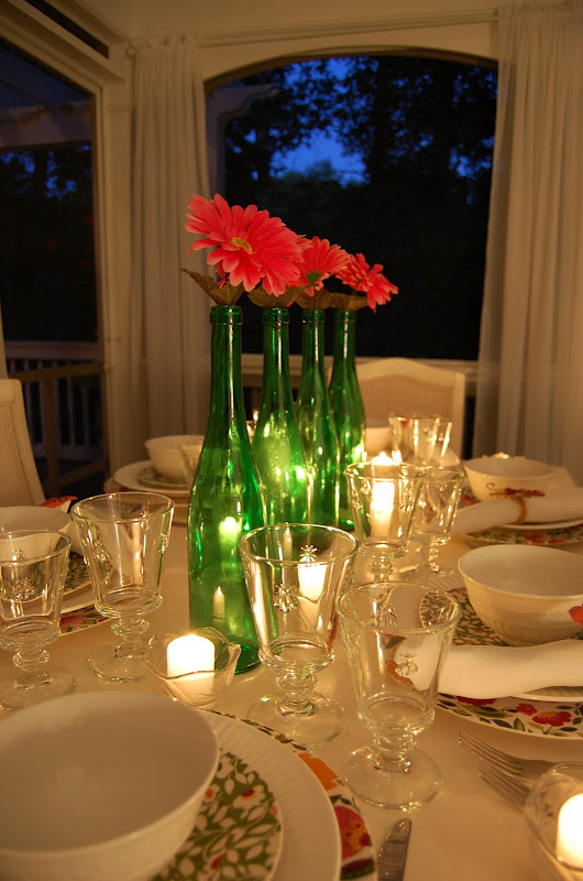 Summer Table Setting with a Blue Hour Sky