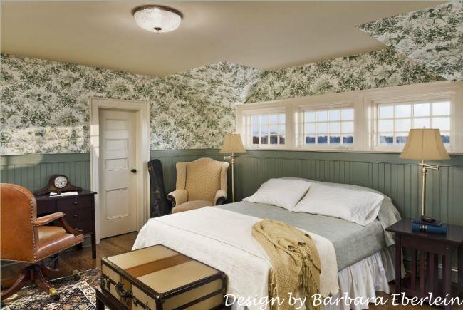 Toile Bedroom in Waterside Home_wm