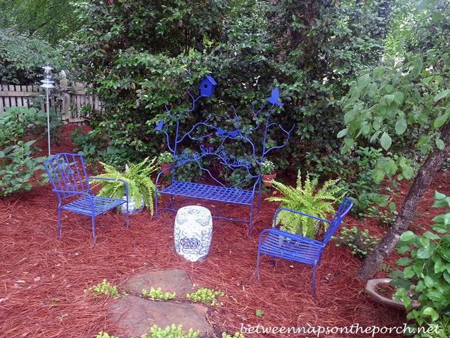 A Garden Seat Seating Area in the Garden_wm