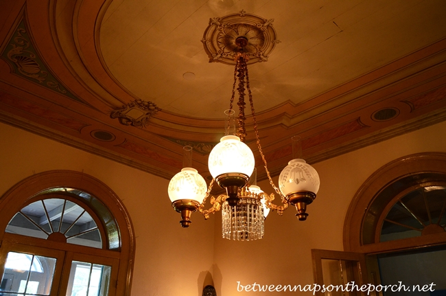 Antique Lighting in San Francisco Plantation, Garyville Louisiana_wm