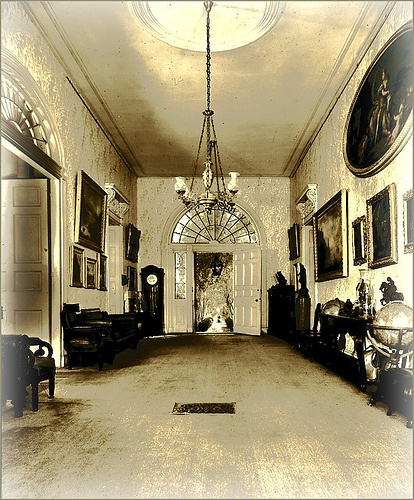 Arlington Foyer Before Fire, Natchez Mississippi
