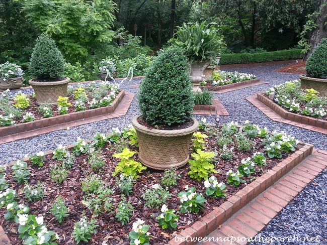 Garden With Boxwood Topiaries_wm