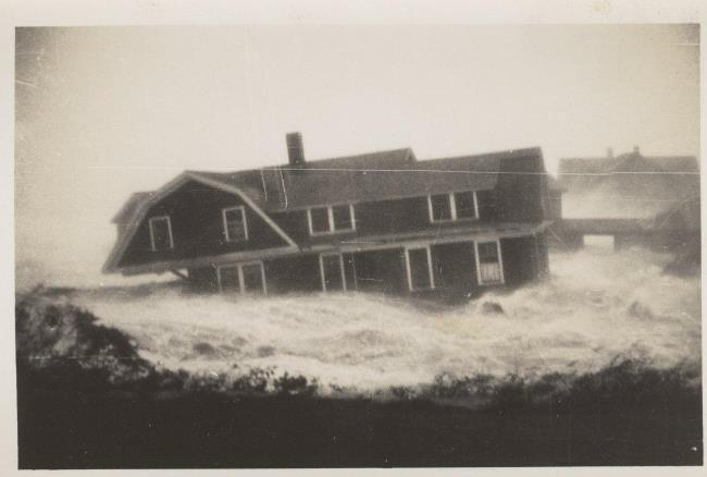 Home washed away in Great Hurricane in Connecticut