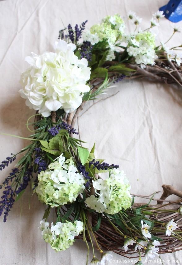 Make a Hydrangea Wreath for Springtime