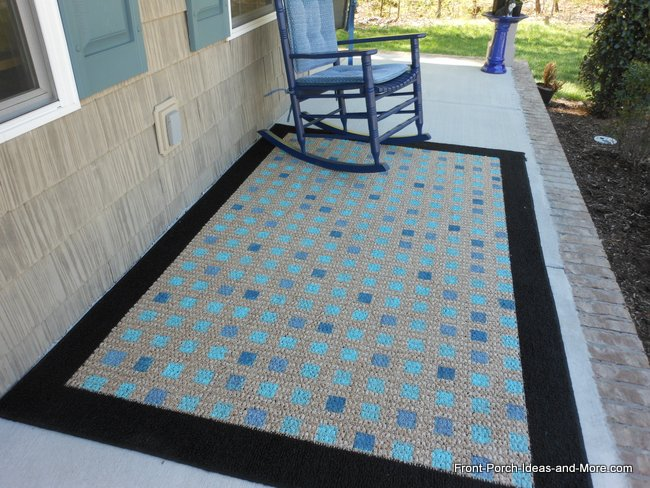 Paint or Stencil a Plain Rug for a New Look