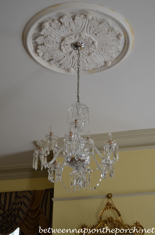 Parlor Chandelier in Greenwood Plantation in St. Francisville, Louisiana