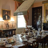 Dining in Rosedown Plantation, St. Francisville, Louisiana