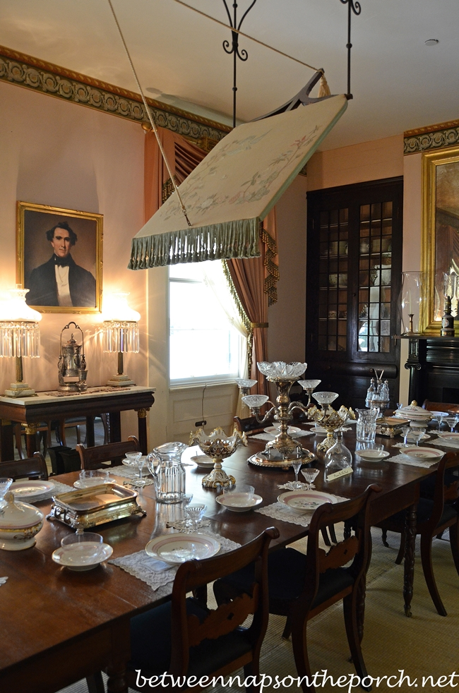 antebellum home interiors dining in rosedown plantation st francisville louisiana 10118