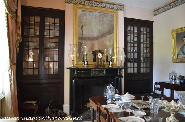 Rosedown Plantation, Dining Room, St. Francisville, LA_wm