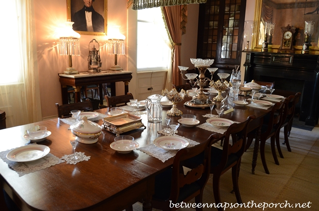 Rosedown Plantation, Dining Room, St. Francisville Louisiana_wm