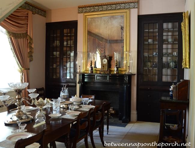Rosedown Plantation Dining Room in St. Francisville, Louisiana_wm