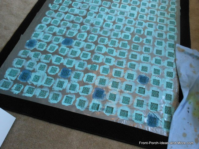 Rug Painted for a Porch or Deck