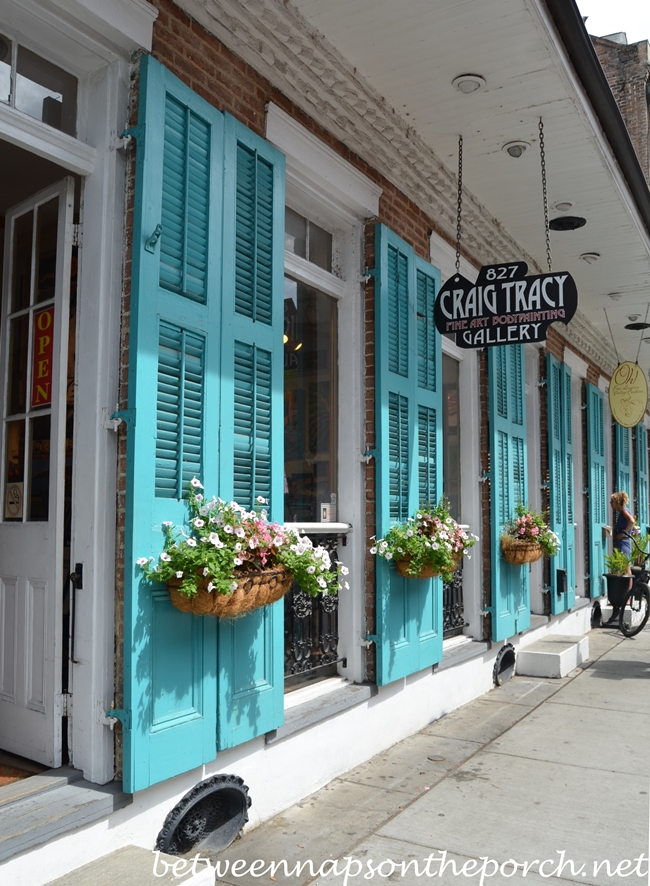 Turquoise Blue Shutters in New Orleans 1