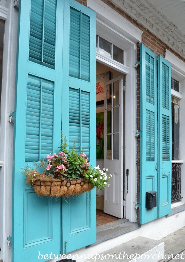 Turquoise Blue Shutters in New Orleans 2