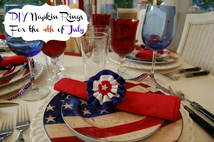 4th of July Napkin Rings DIY Craft Tut
