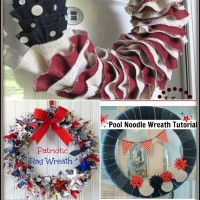 6 DIY Patriotic Wreath Tutorials